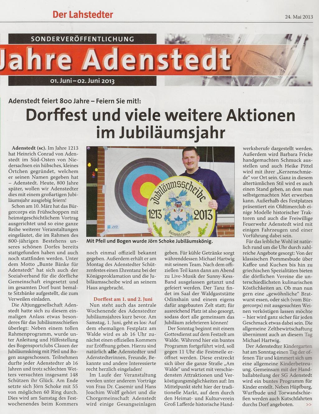 www.gelbesblatt.info Berichterstattung Dorffest