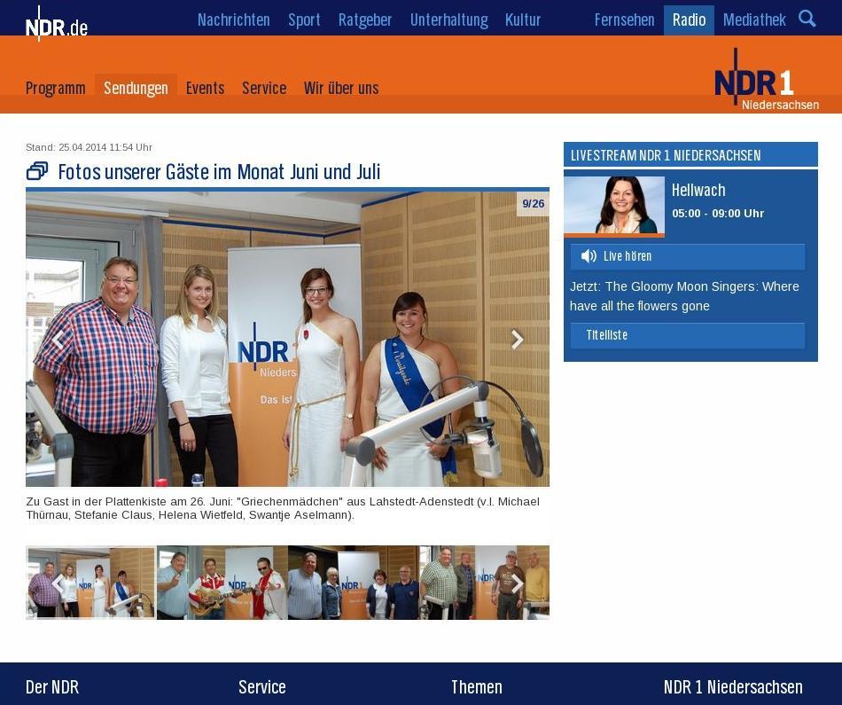 www.gelbesblatt.info Griechenmädchen: NDR1-Plattenkiste