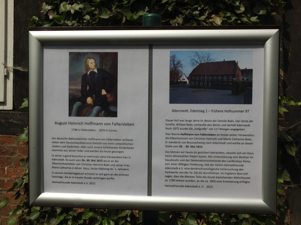 www.gelbesblatt.info Heinrich Hoffmann von Fallersleben - Gedenktafel