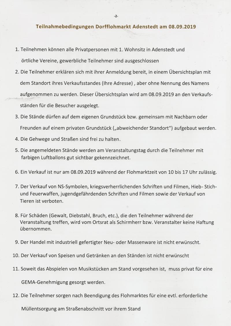www.gelbesblatt.info Dorfflohmarkt 2019